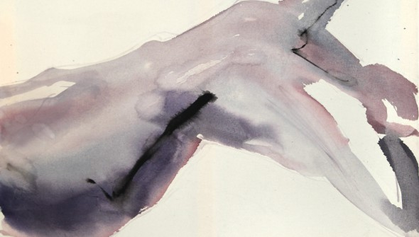 6 Otylia, Akryl na niezagruntowanym płótnie, 100×70 cm, 2013; Acrylic on unprimed canvas, 100×70 cm, 2013